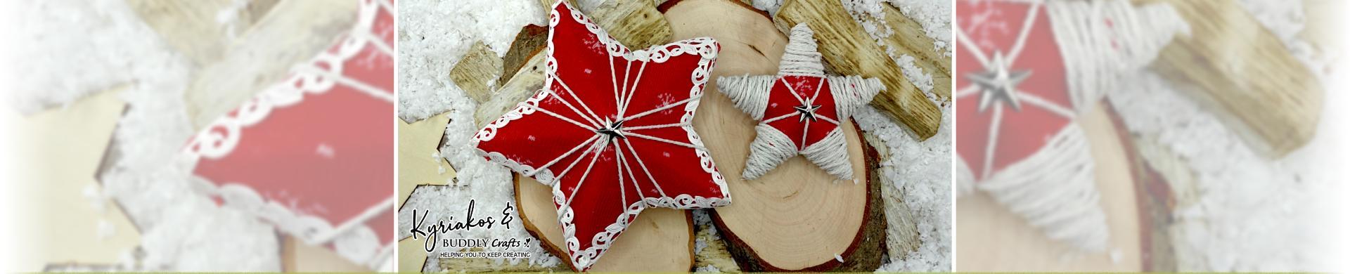 Fabric Covered Polystyrene Stars