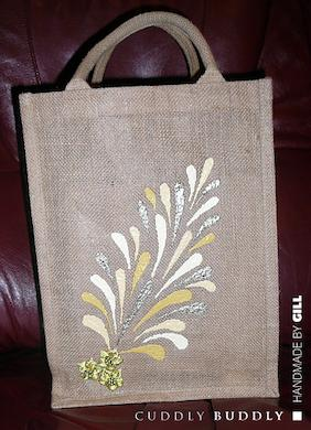 Acrylic Painting On Jute Tutorial Buddly Crafts