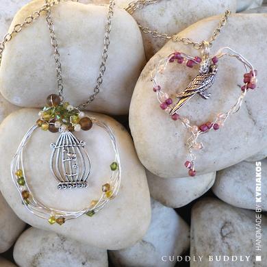 Bird & Birdcage Jewellery Charm Pendants Tutorial