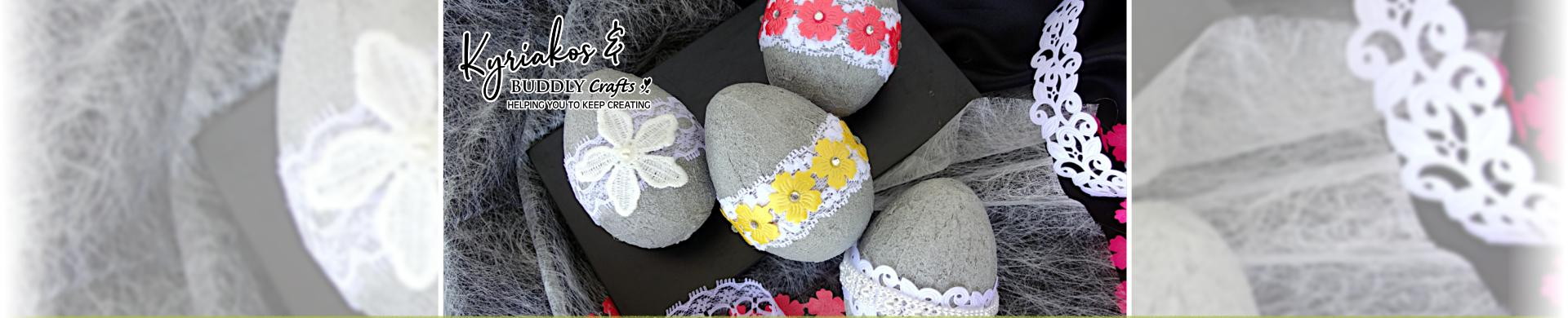 Concrete Painted Easter Eggs
