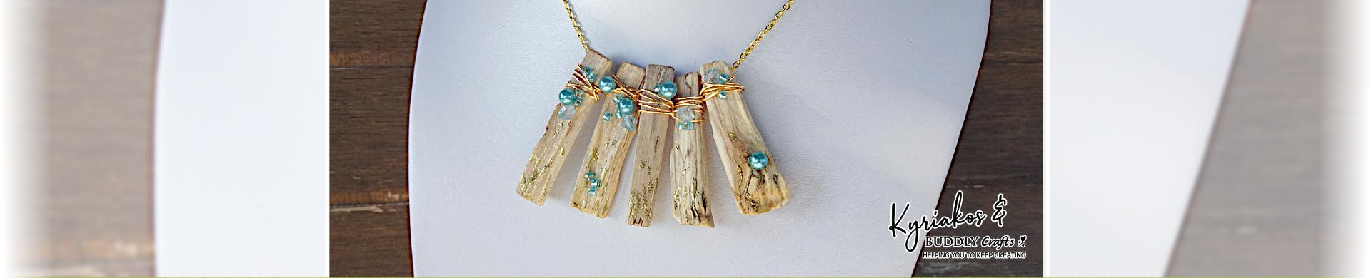 Wired Driftwood Necklace