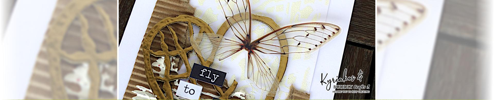 Fly To Love Mixed Media Card