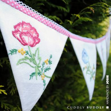 Upcycled Lace Bunting for Mother's Day Tutorial