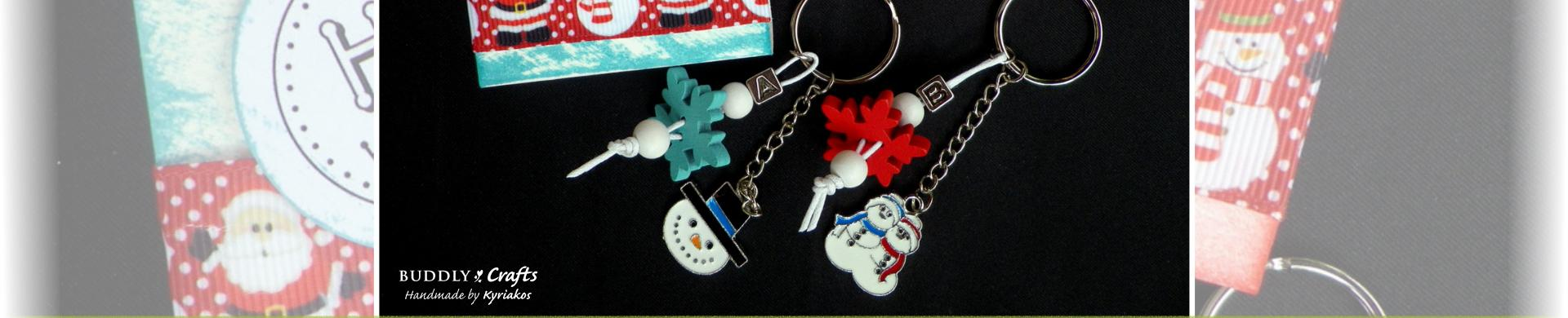 Make Your Own Christmas Keyrings