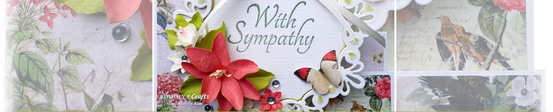 Handmade Die Cut Flowers for Sympathy Cards