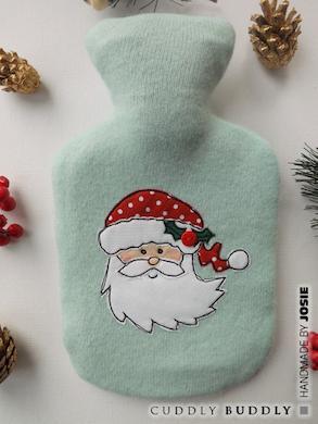 Santa Hot Water Bottle Cover Tutorial