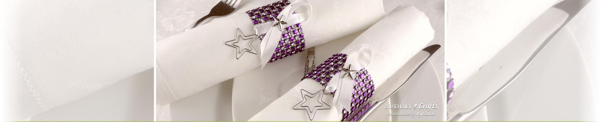Sparkly Rhinestone Napkin Rings