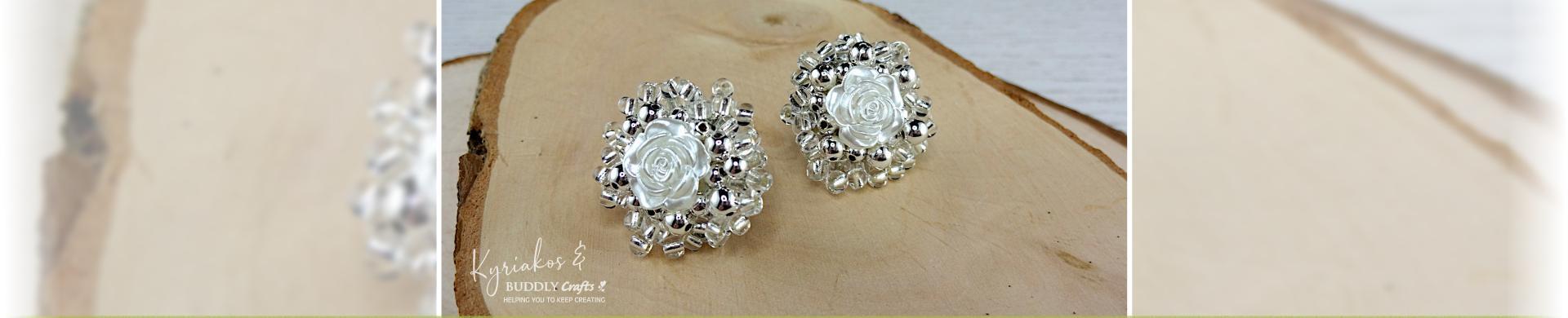 Easy Peasy Rose Earrings
