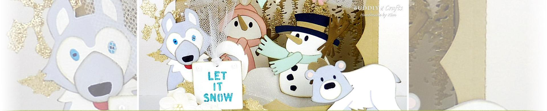 Let It Snow Diorama & Tent Christmas Cards