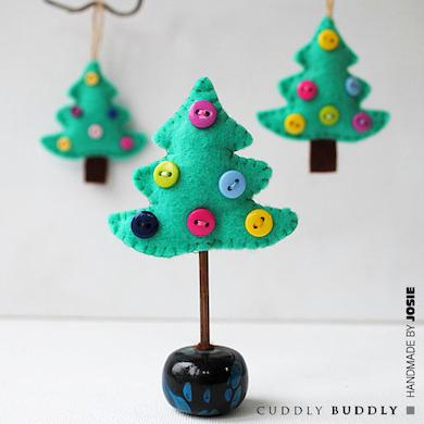 Felt  Christmas Tree Ornament Tutorial