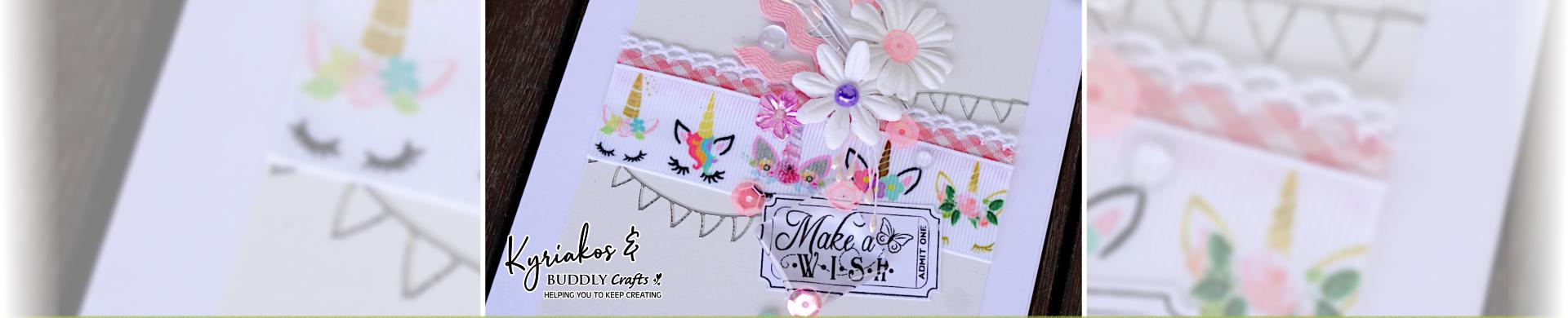Make A Wish Unicorn Ribbon Card