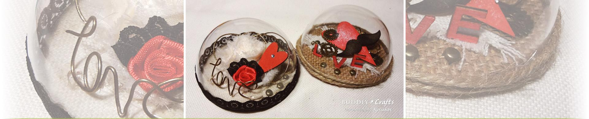 Valentine Keepsake Memory Domes to Make