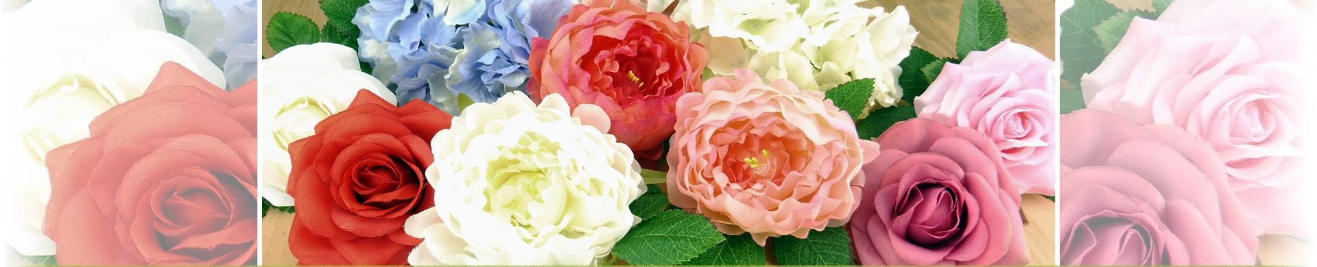 Silk Roses, Peonies & Leaves