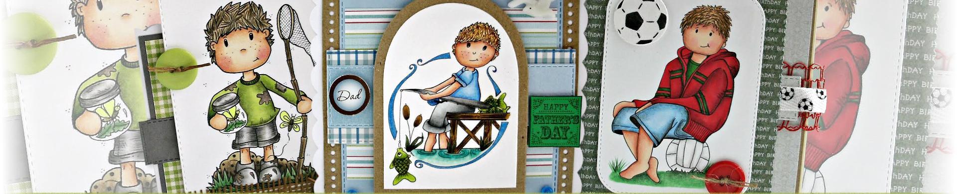 Cute Boys Digital Stamps
