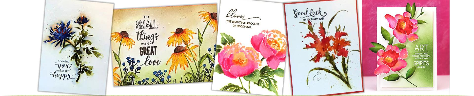 Penny Black Brushstrokes Stamps