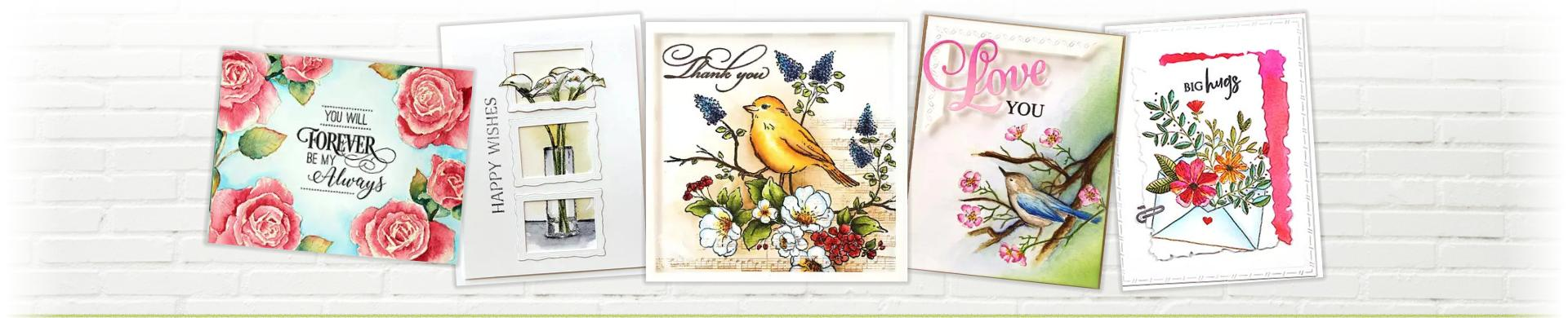 Penny Black Flowers & Birds Stamps