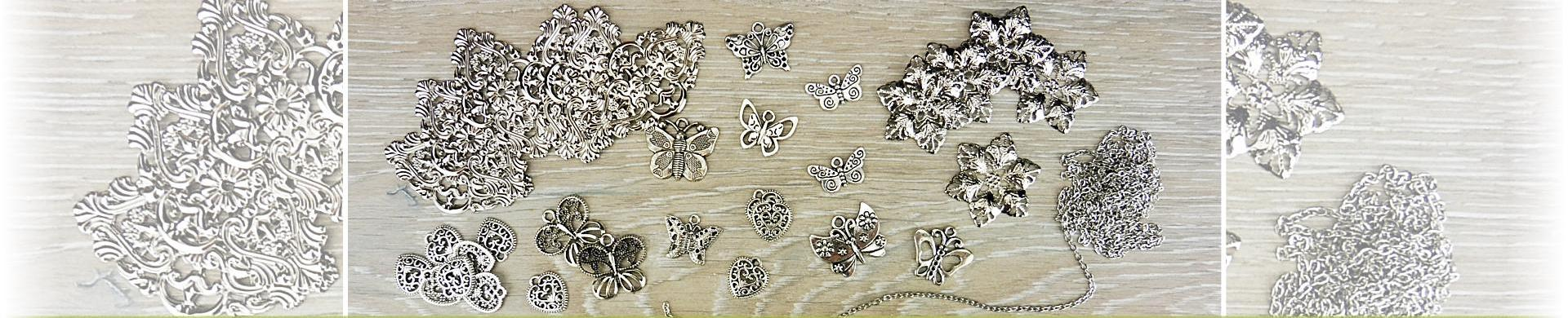 Metal Charms & Embellishments - Silver Tone