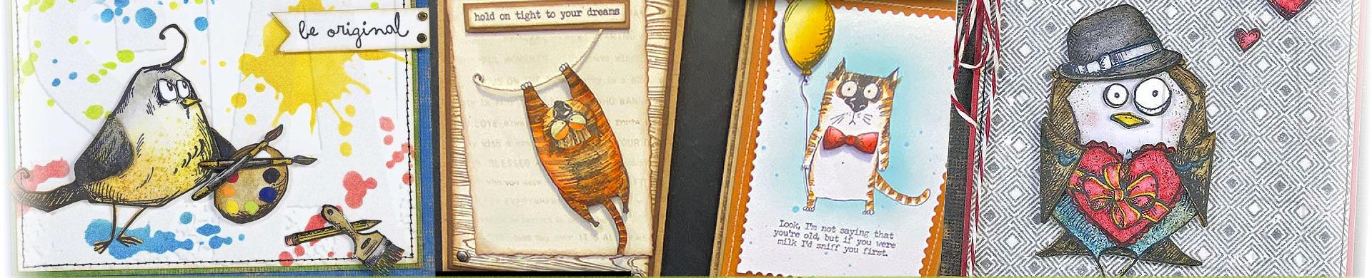 Tim Holtz Rubber Stamps - Fun Animals