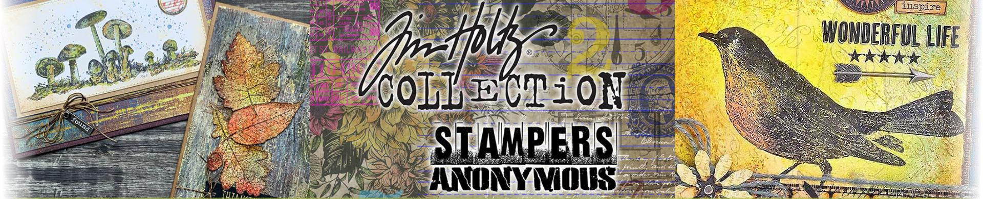 Tim Holtz Rubber Stamps - Flowers, Leaves, Birds & Butterflies