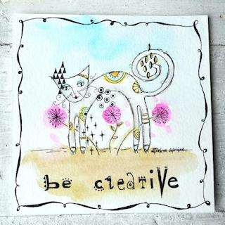 Skinny Cat Card