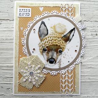 Winter Deer Card