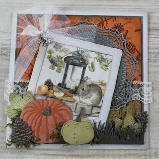 Autumn Rabbit Card