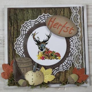 Autumn Deer Card