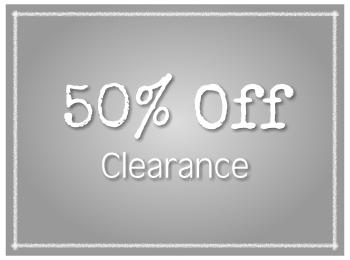 50% Off Clearance