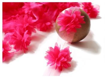 Shabby Chiffon Flowers Trim