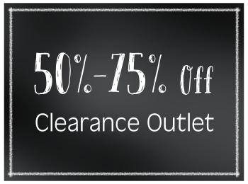 50% - 75% Off Clearance Outlet