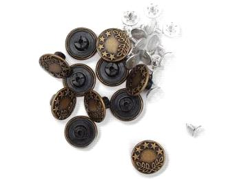 Buttons - Aran, Jeans & Pearl