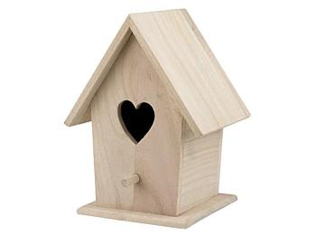 Bare Wood Bird Houses