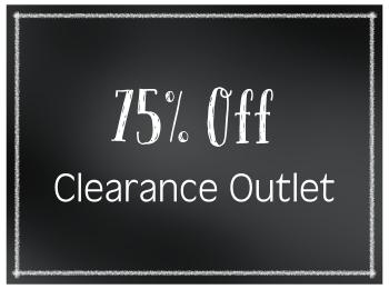 75% Off Clearance