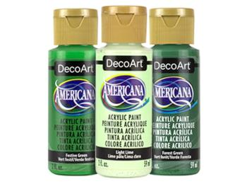 DecoArt Americana Acrylic Paints - Greens