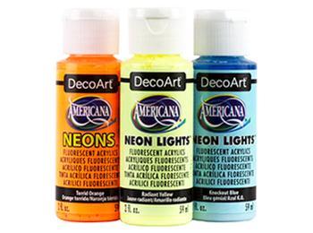 DecoArt Americana Acrylic Paints - Neons