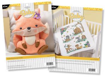 Bucilla Baby Felt & Cross Stitch Kits