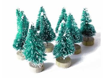 Christmas Embellishments & Miniature Trees