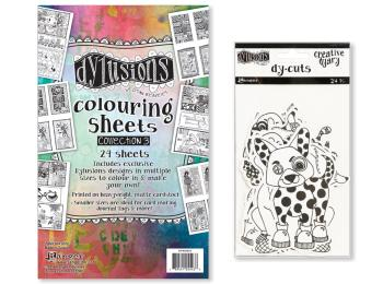 Dylusions - Dyan Reaveley's Die Cuts & Colouring Pages