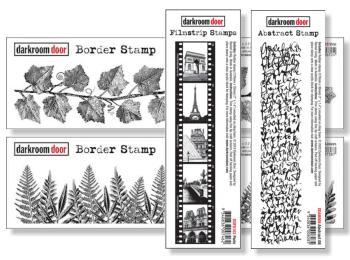Darkroom Door Rubber Stamps - Borders & Strips
