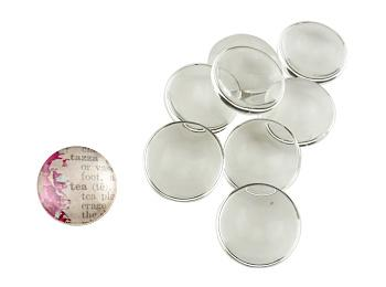 Clear Glass Cabochons