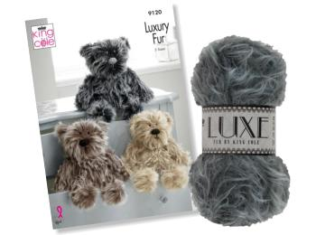 King Cole Luxury Fur Yarn & Toy Patterns