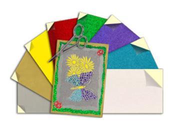 Self Adhesive Velvet Sticker Paper
