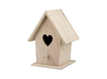 Bare Wood Bird Houses