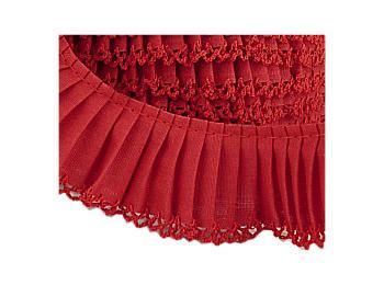 Crochet Edge Pleated Cotton
