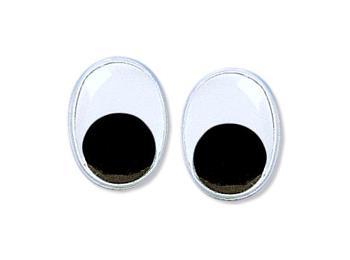 Googly Toy Eyes - Oval Glue On