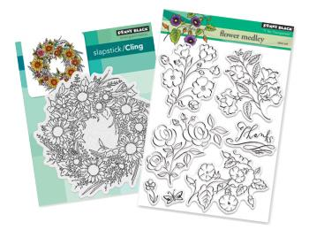 Penny Black Flowers Stamps