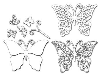 Penny Black Creative Dies - Birds & Butterflies