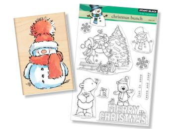 Penny Black Cute Animals Stamps - Christmas & Winter