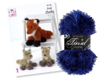 King Cole Tinsel Yarn & Toy Patterns
