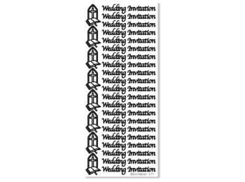 Peel Off Stickers - Wedding